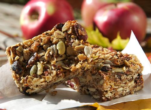 The curb your snoring recipe of the month granola bars for Bar food vegetarian