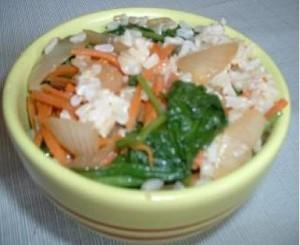 rice and spinach mediterranean diet